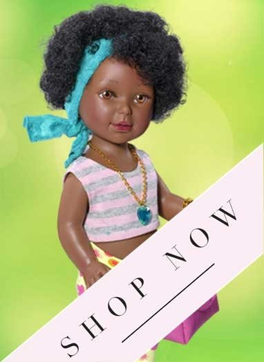 African Paulina doll  black doll with afro