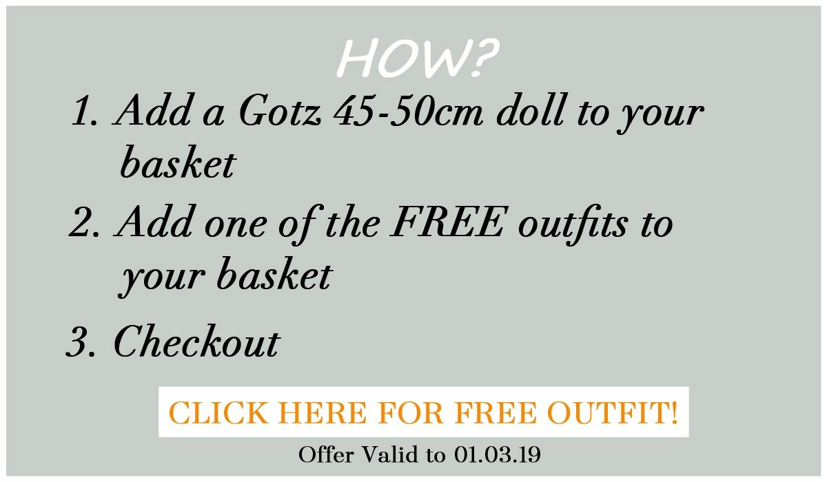 Free offer with Gotz doll