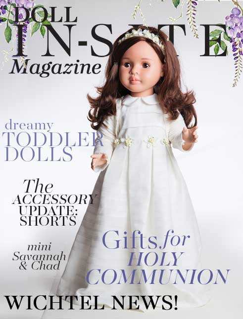 Doll In-Site Magazine featuring Paola Reina First Holy Communion doll Lidia